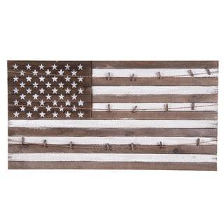 Multicolor Wood American Flag Display Board