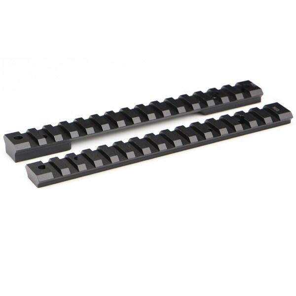 Warne Mountain Tech Savage Black Aluminum 20MOA Round Receiver Long Rail