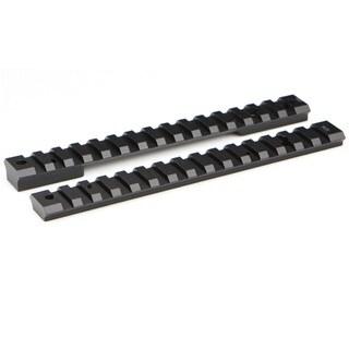 Warne Mountain Tech Black Aluminum Ruger American 20MOA Short Action Rail