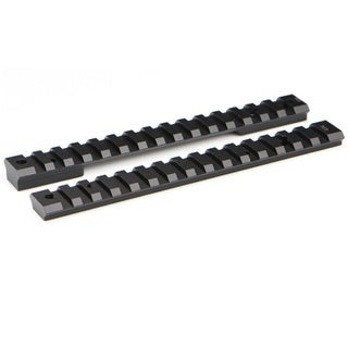 Warne Mountain Tech Remington 700 Zerp Black Zinc-coated Aluminum Short Action Rail