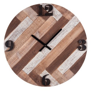 Brown Wood/Metal Boardwalk Wall Clock