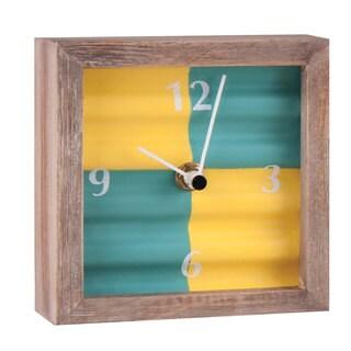 Green Corrugated Tabletop Clock