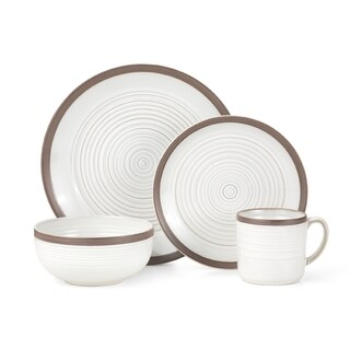 Pfaltzgraff Carmen White Stoneware 16 Piece Dinnerware Set