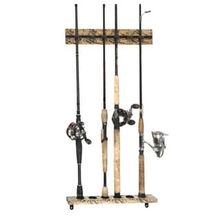 15.75-inch Organized Fishing Camo 6-capacity Modular Wall Rack
