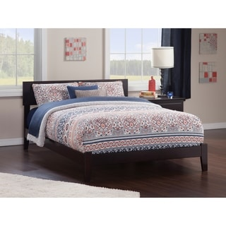 Atlantic Orlando Espresso Wood King-size Open-foot Bed