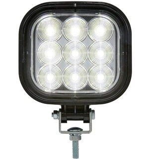 Optronics Opti-Brite Black Stainless Steel 4-inch x 6 inch 9-diode LED Work Light