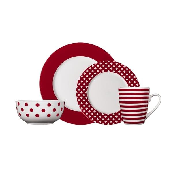 Pfaltzgraff Kenna Red Stoneware 16-piece Dinnerware Set. Opens flyout.