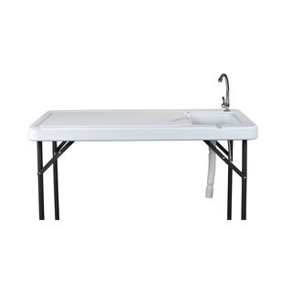 Organized Fishing Fillet Table With Sink