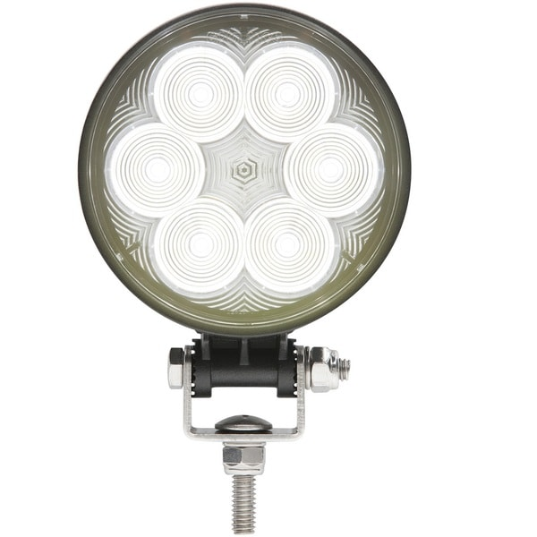 Optronics Opti-brite Black Stainless Steel, Aluminum, and Polycarbonate LED 6-diode Round Work Light