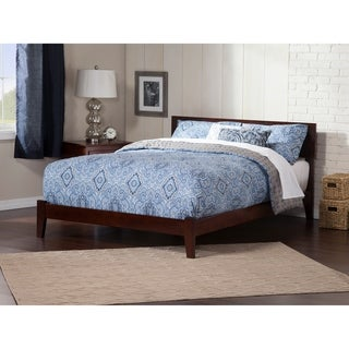 Orlando King Platform Bed with Open Foot Board in Walnut