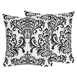 Sweet Jojo Designs Sloane Collection Damask Decorative 18-inch Accent Throw Pillows (Set of 2)