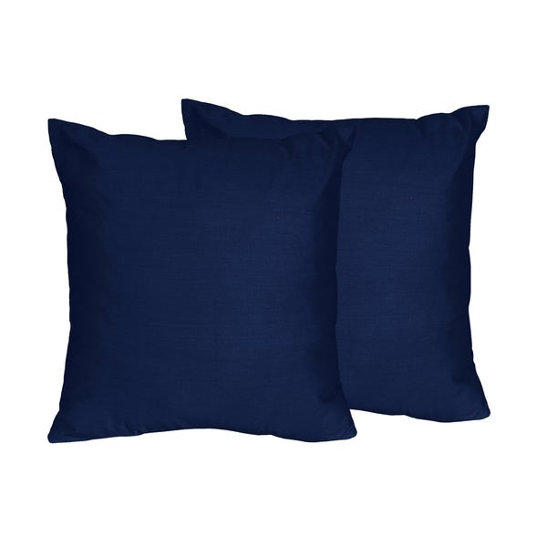 Shop Sweet Jojo Designs Navy Blue And Grey Stripe Collection Impressive Blue And Grey Decorative Pillows