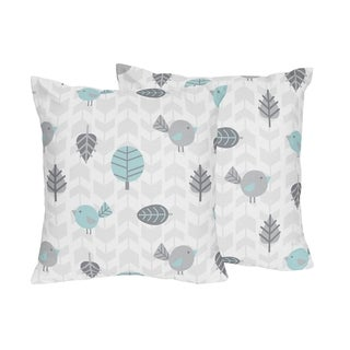 Earth and Sky Collection by Sweet Jojo Designs Set of 2 Decorative 18-inch Accent Throw Pillows