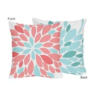 Sweet Jojo Designs Emma Collection 18-inch Floral Accent Throw Pillows (Set of 2)