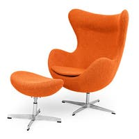 Kardiel Premium Twill Amoeba Chair and Ottoman