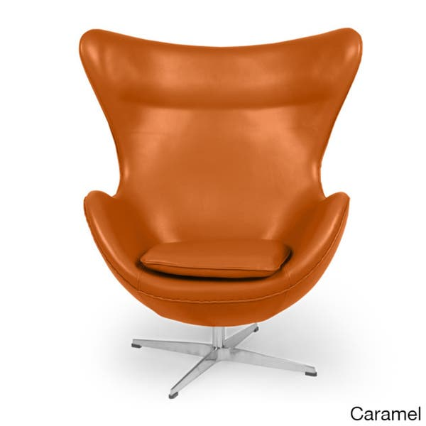 Awe Inspiring Shop Kardiel Premium Aniline Leather Amoeba Chair Free Caraccident5 Cool Chair Designs And Ideas Caraccident5Info