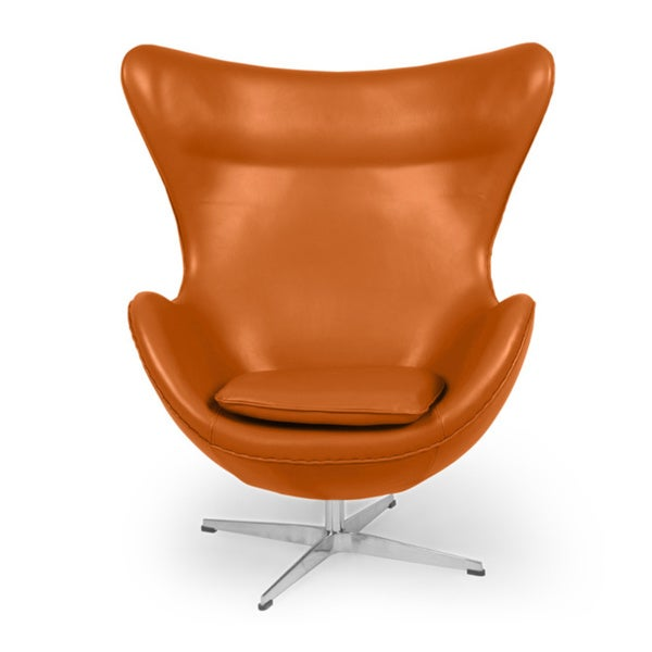 Beautiful Kardiel Premium Aniline Leather Amoeba Chair