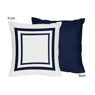 Sweet Jojo Designs Anchors Away Collection Navy White Polyester 18-inch Throw Pillow (Set of 2)