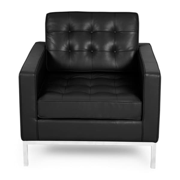 Beau Kardiel Florence Knoll Style Chair, 100% Full Premium Aniline Leather