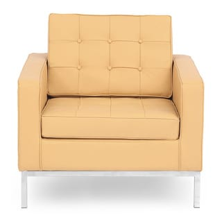Kardiel Florence Knoll Style Genuine Standard Grain Leather Armchair