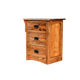 Forest Designs Baltic Birch 25 x 30 x 18 Arts and Crafts Three Drawer Nightstand