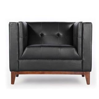 Kardiel Harrison Mid-Century Modern Premium Aniline Leather Club Chair