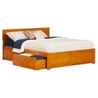 Atlantic Orlando Carmel Latte Wood Queen Size 2-drawer Platform Bed