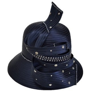 Swan Hat Satin Ribbon Designer Couter Hat