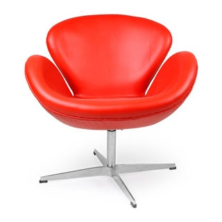 Kardiel Premium Aniline Leather Trumpeter Chair
