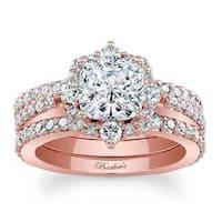Barkev's Designer 14k Rose Gold 2 3/8ct TDW Round-cut Diamond Bridal Set
