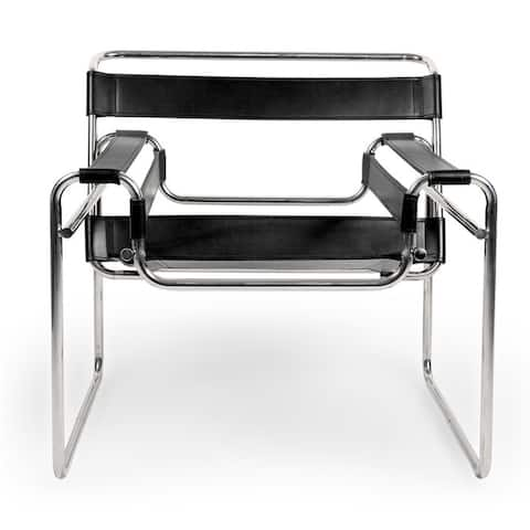 Kardiel Mid-Century Modern Saddle Leather Wassily Chair