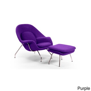 Kardiel Premium Cashmere Wool Womb Chair and Ottoman
