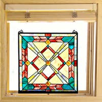 Tiffany Style Southwest Sunset Stained Glass 18-inch Window Panel