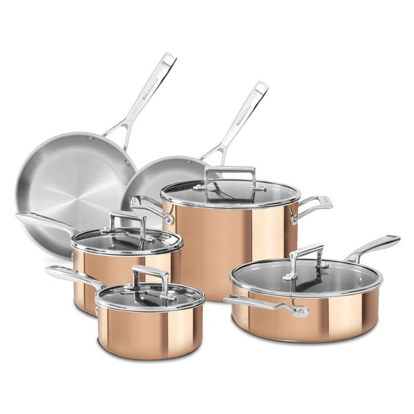 KitchenAid Copper 10-piece Tri-ply Cookware Set