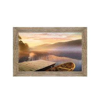 Framed Art Morning on the Lake by Steve Hunziker
