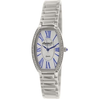 Ingersoll Lansing INQ021SLSL Silvertone Stainless Steel Analog Quartz Women's Watch