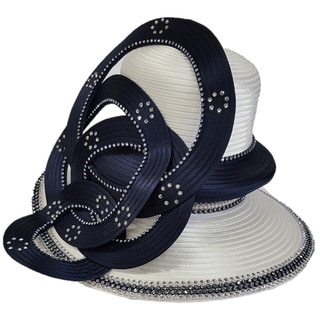 Swan Hat Two-tone Year Around Designer Couter Hat