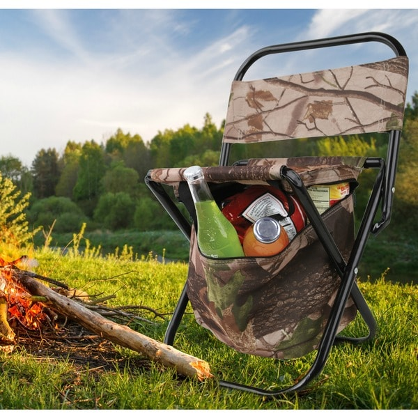 Outdoor Folding Camping Chair with Cooler Bag