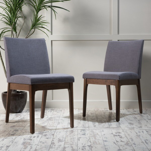 kwame midcentury fabric dining chair set of 2 by christopher knight home
