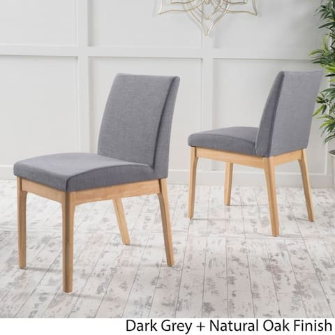 Kwame Mid-century Fabric Dining Chair by Christopher Knight Home (Set of 2)