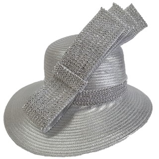 Swan Hat Metallic Year-around Designer Couture Hat