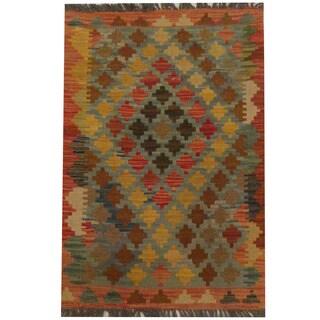 Herat Oriental Afghan Hand-woven Tribal Kilim (2'1 x 3')
