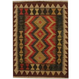 Herat Oriental Afghan Hand-woven Tribal Wool Kilim (2' x 2'8)