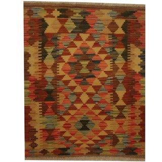 Herat Oriental Afghan Hand-woven Tribal Kilim (2'2 x 2'7)