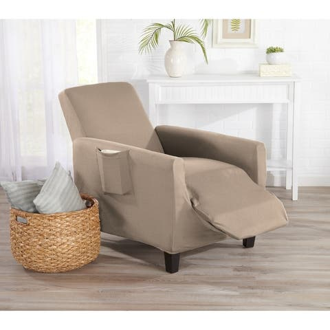 Home Fashion Designs Dawson Collection Twill Form Fit Recliner Slipcover