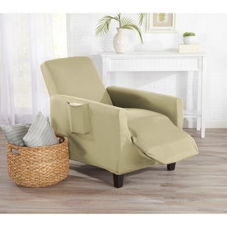 Home Fashion Designs Dawson Collection Twill Form Fit Recliner Protector Slip Cover