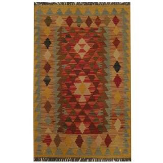 Herat Oriental Afghan Hand-woven Tribal Kilim (2'1 x 3'3)
