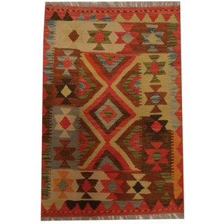 Herat Oriental Afghan Hand-woven Tribal Kilim (2'1 x 3'1)
