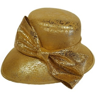 Hatch Leather Covered Blocked Swan Hat
