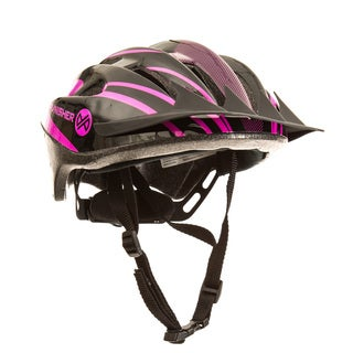 Punisher Women's Purple 18-Vent Cycling Helmet with ABS Shell and Detachable Visor